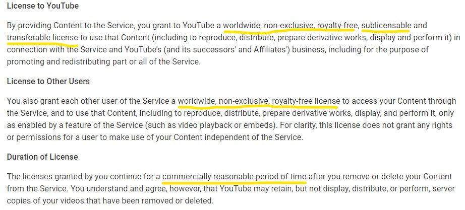 YouTube Content License